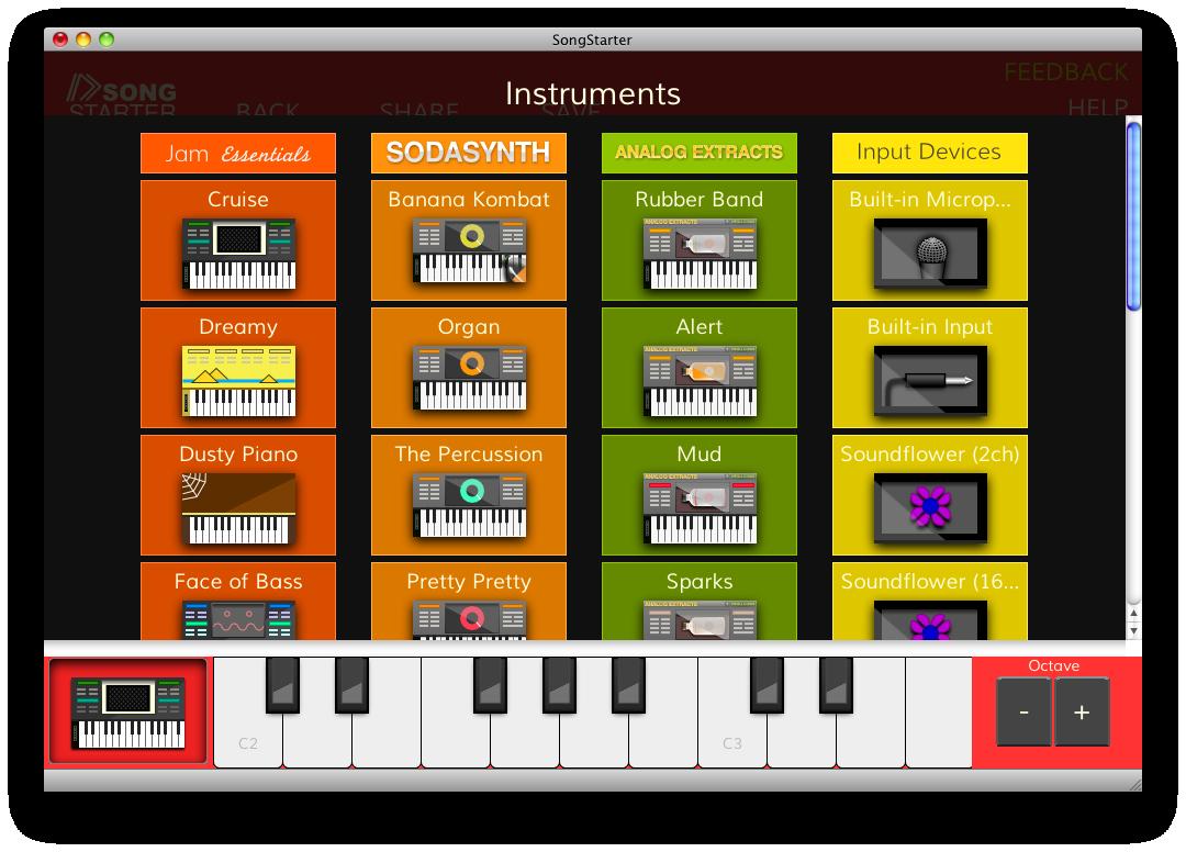 External Audio Input Recording in SongStarter