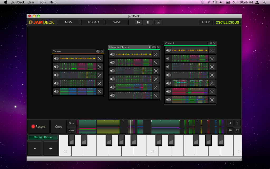 JamDeck for Mac OS X