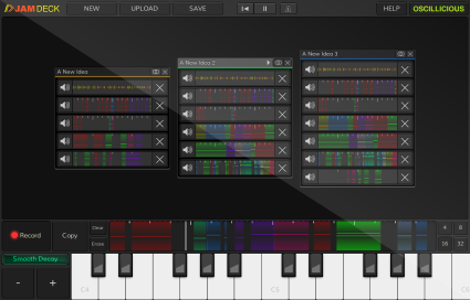 JamDeck Screenshot - Organic Music Production Software
