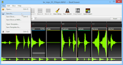 Select Save As from the File menu to save your edited audio file.